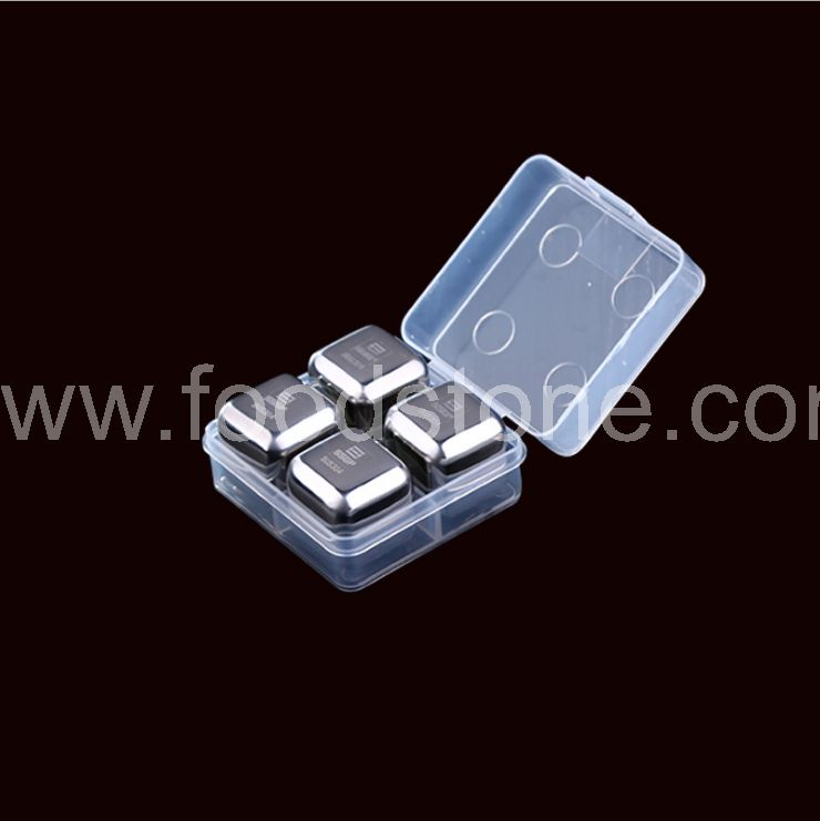 4 Piece Stainless Steel Ice Cubes