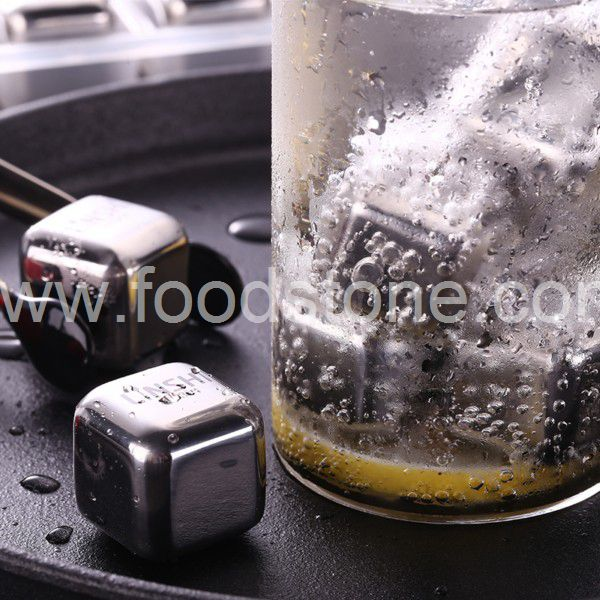 Stainless Steel Ice Cubes (8)