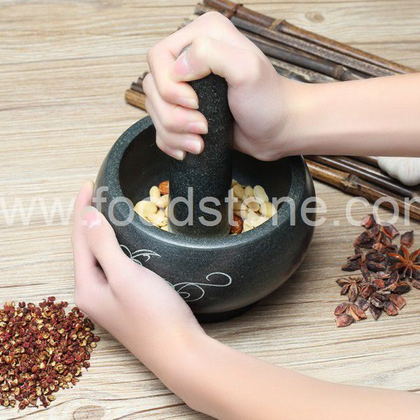 Thai Granite Mortar and Pestle