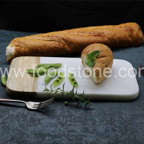 White Marble and Wood Cheese Boards